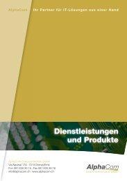 Dienstleistungen und Produkte - AlphaCom Computertechnik GmbH