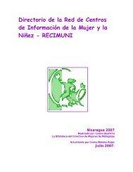 Directorio de la Red de Centros de Información de la Mujer y ... - Sidoc