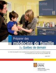 Programme de résidence en médecine familiale - Faculté de ...