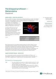 Herzklappenprothesen Meilensteine - St. Jude Medical