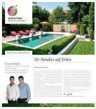 Ihr Paradies auf Erden - Schleitzer baut Gärten