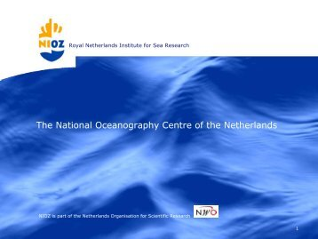The National Oceanography Centre of the Netherlands