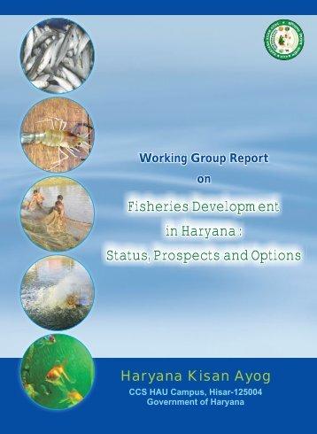 Working Group Report on - Haryana Kisan Ayog
