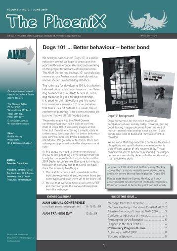Phoenix - Australian Institute of Animal Management Inc
