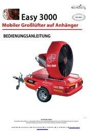 Bedienungsanleitung Easy 3000 Großlüfter - Leader GmbH