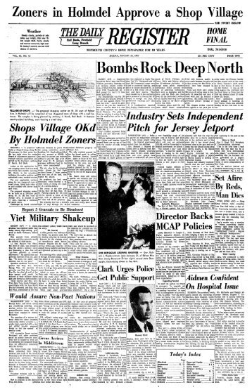 Bombs Rock Deep North - Red Bank Register Archive