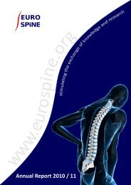 EUROSPINE Annual Report 2010/11 - The Spine Society of Europe