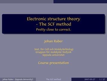 The SCF method - Uppsala universitet