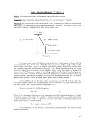 THE LAW OF RADIOACTIVE DECAY - Physics