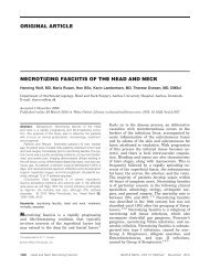 Necrotizing fasciitis of the head and neck