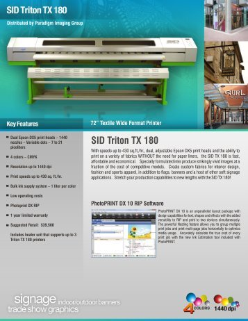 SID Triton TX 180 - Paradigm Imaging Group