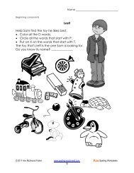 Try out 3 of our sample pages for free! - Spelling Words Well