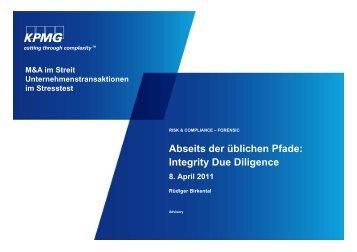 Integrity Due Diligence - P+P Pöllath + Partners