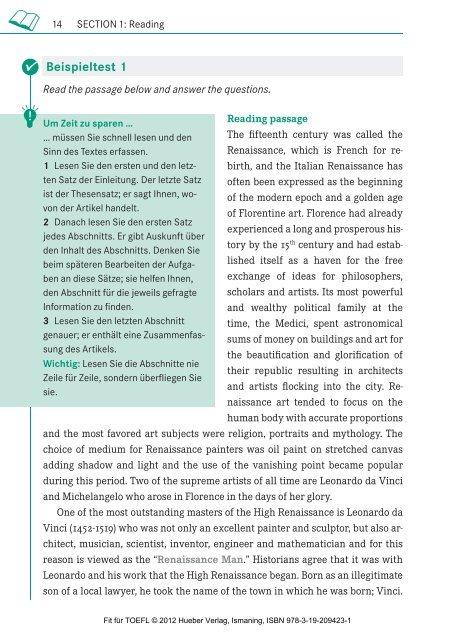 Fit für TOEFL © 2012 Hueber Verlag, Ismaning, ISBN 978-3-19 ...