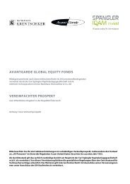 avantgarde global equity fonds vereinfachter prospekt - Bankhaus ...