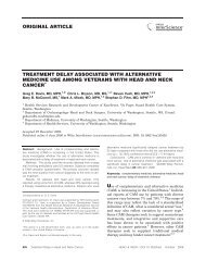 Treatment delay associated with alternative medicine use among ...