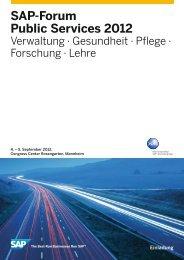 SAP-Forum Public Services 2012 - INFO