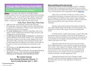 Music Planning Guide Lent 2010 - Diocese of Crookston