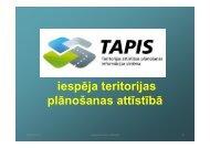 TAPIS - iespēja teritorijas plānošanas attīstībā