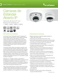 TruVision IP Open Standards Dome Cameras Data Sheet - Interlogix