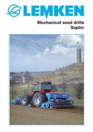 Mechanical seed drills Saphir
