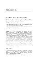 The Metric Bridge Partition Problem - gerad