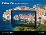 PVM-X300 4K Professional Video Monitor - Video Europe