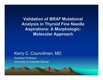 Validation of BRAF Mutational Analysis in Thyroid Fine Needle ...