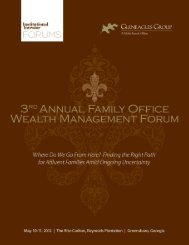 The 3rd Annual Institutional Investor/Gleneagles Group - iiforums.com