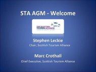 Marc Crothall, Scottish Tourism Alliance