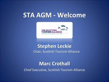 Marc Crothall, Scottish Tourism Alliance
