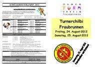 Flyer der Turnerchilbi 2012 - Turnverein Fraubrunnen