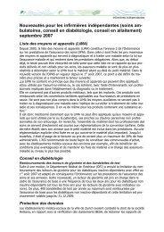 Neuerungen in der  freiberuflichen Pflege septembre 2007 f