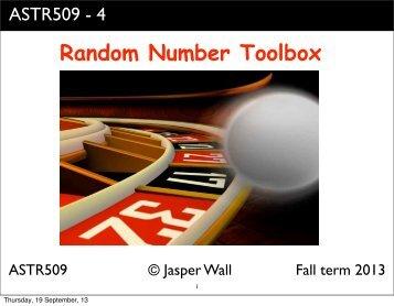 Random Number Toolbox