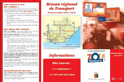 carte zou solidaire formulaire 2020 Zou ! Solidaire   Région Provence Alpes Côte d'Azur
