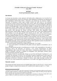1 Cittadella Aretina per la Sicurezza Stradale 'Strasicura ... - Cedostar