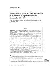Mortalidad en jóvenes y su contribución al cambio - Universidad del ...