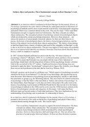 Three fundamental concepts in Kurt Danziger's work