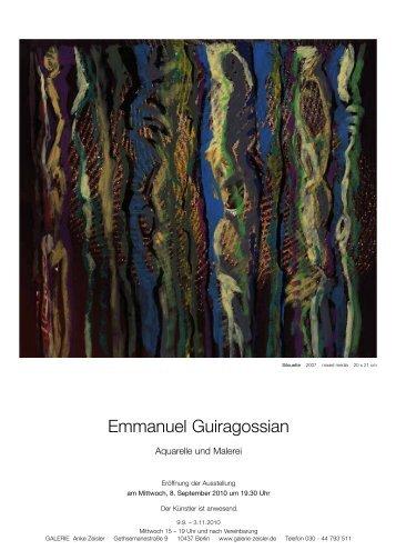 Emmanuel Guiragossian - Galerie Anke Zeisler - Galerie