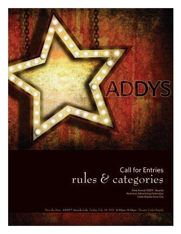 rules & categories - American Advertising Federation: Cedar Rapids ...