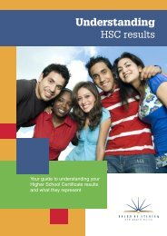 Click here for information on understanding HSC results - Millennium