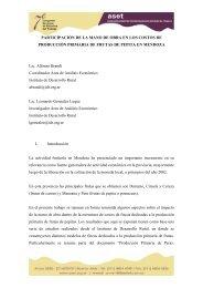 PARTICIPACIÓN DE LA MANO DE OBRA EN LOS COSTOS ... - ASET
