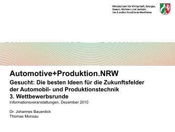 Ziele des operationellen Programms EFRE - Ziel2.NRW