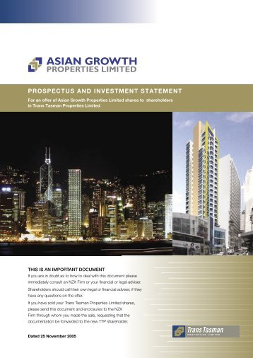 Prospectus and Investment Statement 25 Nov 2005 - Asian Growth ...