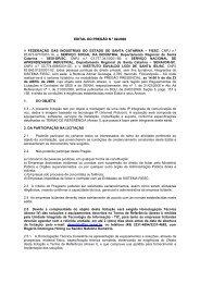 EDITAL DO PREGÃO N.º 02/2008 A FEDERAÇÃO DAS ...