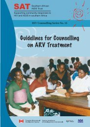 Guidelines for Counselling on ARV Treatment - Southern African ...