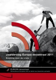 Jaarverslag Europa decentraal 2011