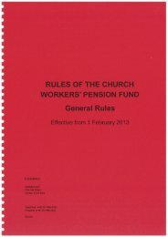 CWPF Rules 2013 - The Church of England