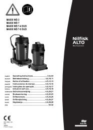 823 0062 130 Instruction for use Alto EU 1.indd - Nilfisk PARTS