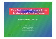 SOCR: A Handwritten Data Form Producing and Reading System